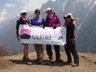 Four South Florida women climbed up Mount Everest in support of ending human trafficking