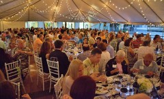 Guests at Pineapple Jam enjoying their dinner catered by Hughs Culinary
