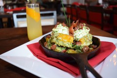 Lobster Eggs Benedict Three Meat Skillet Smoked Salmon Pizzetta Banana Nut Bread French Toast