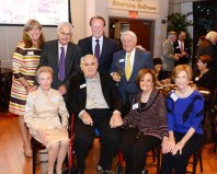 Back row: Lisa Kitei, Stanley Goodman, Kelley Shanley, Joe Amaturo Front row: Pearl Goodman, Bernie Peck, Micki Peck, Wini Amaturo