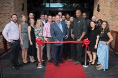 matchbox American Kitchen + Spirit debuts in the Florida market with a first-in-state location at Sawgrass Mills. (L to R: Kevin Rieger, general manager, Peter D'Amelio, CEO of matchboxfoodgroup and Chef Brock Donte' Kuryl-Champine)
