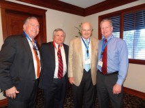 Bob Swindell of the Broward Alliance, Berger Commercial Realty President Lloyd Berger, William Murphy of Douglas Management, Broward County District 7 Commissioner Tim Ryan