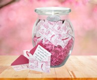 Breast Cancer Awareness Support with Pink Ribbon Jar