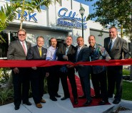 Dan Lindblade, President and CEO of the Greater Fort Lauderdale Chamber of Commerce; Chip LaMarca, Broward County Commissioner; David Feinberg, Facilities Manager; Bill Feinberg, President and Co-founder of Allied Kitchen & Bath; Joe Feinberg, Vice President and Co-founder of Allied Kitchen & Bath; Rob Feinberg, CKD and CAPS Designer and Tim Lonergan, Oakland Park Mayor.