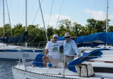 Two Octogenarians, Gary Sisler and Bert Colville, & Fellow Sailing Aficionados Residing at East Ridge Senior Living Community 'Team Up' to Cruise Biscayne Bay aboard the YEMANJAH (the name of a mythical African Goddess of the Living Ocean meaning Motherly Protected)
