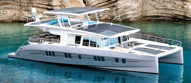 FIRST SOLAR POWERED YACHT