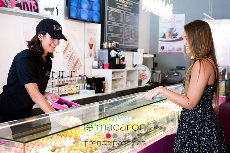 Two girls at The Le Macaron French Pastries