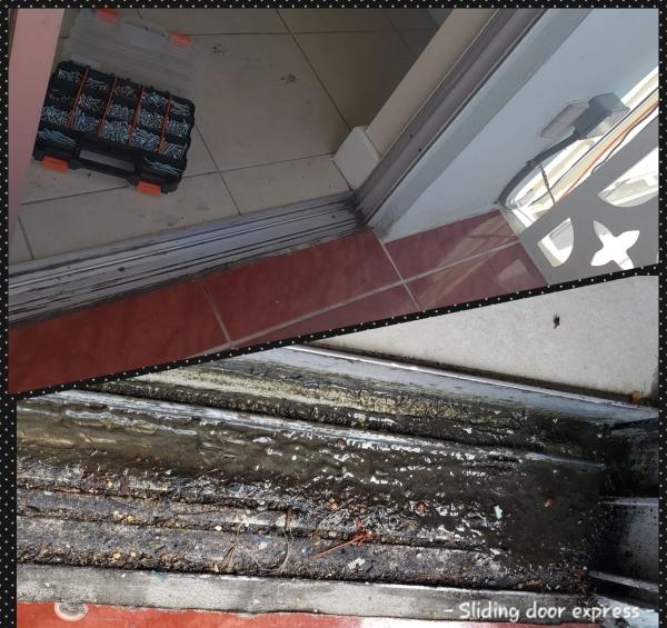 Sliding door track restoration
