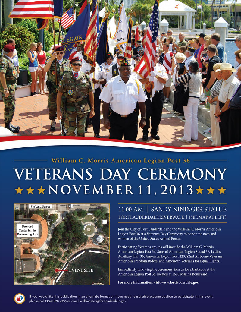 Veterans Day Ceremony Fort Lauderdale Florida