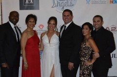 (L to R) Walter Harris, president of Harris Restaurant Group; Chantal Leconte, former CEO of Joe DiMaggio Children's Hospital; Eslin and Matt Guice, co-hosts of the Angels for Angels Charity Gala; Lina and Mitch Zelman, CEO of Harris Restaurant Group.