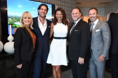 Douglas Elliman EVP Caprice Weber; RIVA sales team of Jonathan Howard and Melanie Kimpton; Douglas Elliman COO Gus Rubio and Jay Phillip Parker, CEO of Douglas Elliman's Florida Brokerage.